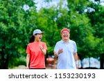seniors and young women walking   Shutterstock . vector #1153230193