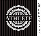 athlete silvery emblem or badge   Shutterstock .eps vector #1153231483