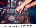dj mixing in night club | Shutterstock . vector #115323253