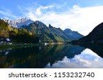The Beautiful Mountain Lake At...
