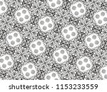 ornament with elements of black ... | Shutterstock . vector #1153233559