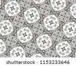 ornament with elements of black ... | Shutterstock . vector #1153233646