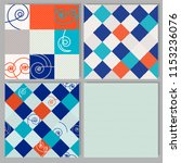 set of 4 geometric patterns of... | Shutterstock .eps vector #1153236076