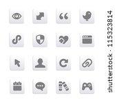 internet icons set | Shutterstock .eps vector #115323814