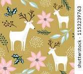 seamless pattern with reindeer  ... | Shutterstock .eps vector #1153239763