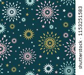 seamless pattern with abstract... | Shutterstock .eps vector #1153251583