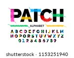 patched font stitched with... | Shutterstock .eps vector #1153251940