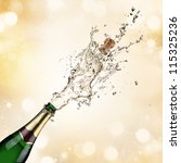 champagne explosion | Shutterstock . vector #115325236