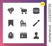 modern  simple vector icon set... | Shutterstock .eps vector #1153255720