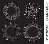 hand drawn vector sunburst set... | Shutterstock .eps vector #1153261210