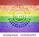 bend lgbt colors emblem  | Shutterstock .eps vector #1153261693
