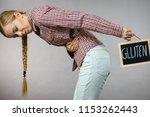 wheat allergy problems concept. ... | Shutterstock . vector #1153262443