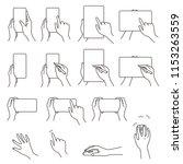 hand gestures 03  smartphone ... | Shutterstock .eps vector #1153263559