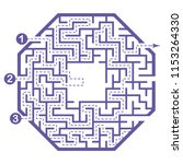 illustration with labyrinth ... | Shutterstock .eps vector #1153264330