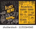 brunch menu. food flyer for... | Shutterstock .eps vector #1153264360