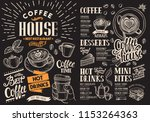coffee restaurant menu on... | Shutterstock .eps vector #1153264363