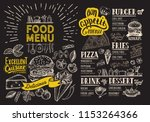 food menu for restaurant with... | Shutterstock .eps vector #1153264366