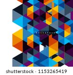 multicolored triangles abstract ... | Shutterstock .eps vector #1153265419