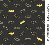 seamless pattern with bats.... | Shutterstock .eps vector #1153266919