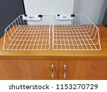 white metal document tray  in... | Shutterstock . vector #1153270729