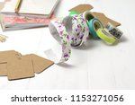 craft supplies   tapes  paper... | Shutterstock . vector #1153271056