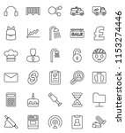 thin line vector icon set  ... | Shutterstock .eps vector #1153274446