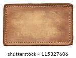blank leather jeans label ... | Shutterstock . vector #115327606