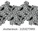 seamless black and white... | Shutterstock .eps vector #1153277890