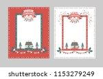 christmas frame for... | Shutterstock .eps vector #1153279249