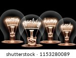 photo of light bulb group with... | Shutterstock . vector #1153280089