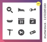 modern  simple vector icon set... | Shutterstock .eps vector #1153285183