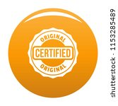 certified logo. simple... | Shutterstock .eps vector #1153285489