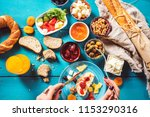delicious traditional turkish... | Shutterstock . vector #1153290316