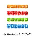 set of four seasons winter... | Shutterstock .eps vector #115329469