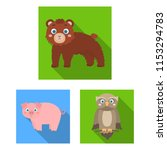 toy animals flat icons in set...   Shutterstock .eps vector #1153294783