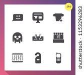 modern  simple vector icon set... | Shutterstock .eps vector #1153296283