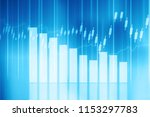 stock market graph. digital... | Shutterstock . vector #1153297783