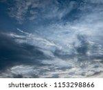 blue dramatic cloudy sky... | Shutterstock . vector #1153298866