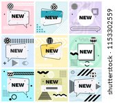 set of trendy abstract... | Shutterstock .eps vector #1153302559