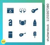 modern  simple vector icon set... | Shutterstock .eps vector #1153307380