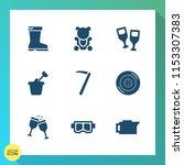 modern  simple vector icon set... | Shutterstock .eps vector #1153307383