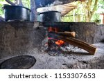 traditional way of making food...   Shutterstock . vector #1153307653