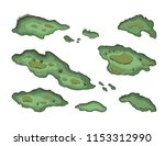 set of swamps in isometric... | Shutterstock .eps vector #1153312990