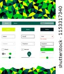 dark green  yellow vector ui ux ...