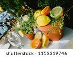 appetizers in a mediterranean... | Shutterstock . vector #1153319746