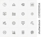 data analitic line icon set... | Shutterstock .eps vector #1153323316
