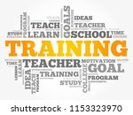 training word cloud collage ... | Shutterstock .eps vector #1153323970