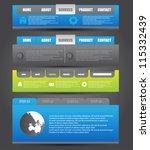 web designing element | Shutterstock .eps vector #115332439