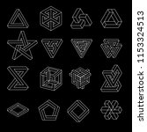 set of impossible shapes.... | Shutterstock .eps vector #1153324513