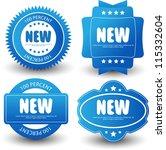Set Of Label Badges